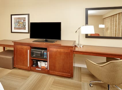 King Room TV and Work Desk