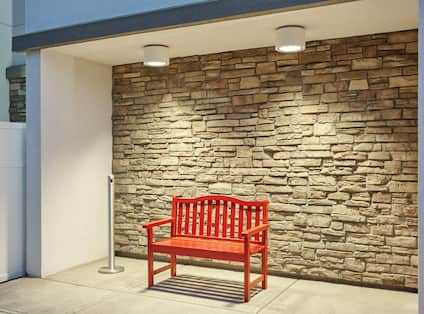 Outdoor Sitting Area Smokers Bench