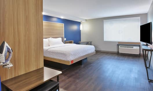 Accessible King Mobility Guest Room with Iron and TV