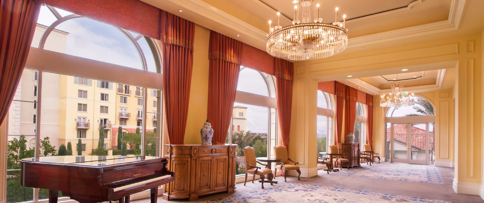 Ballroom Hallway With Piano