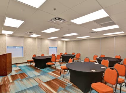 Meeting Room Round Tables Setup