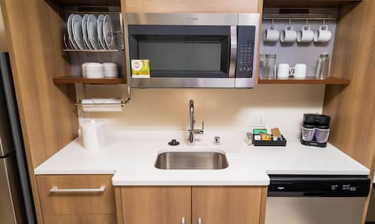 Suite Kitchen with Stainless Appliances