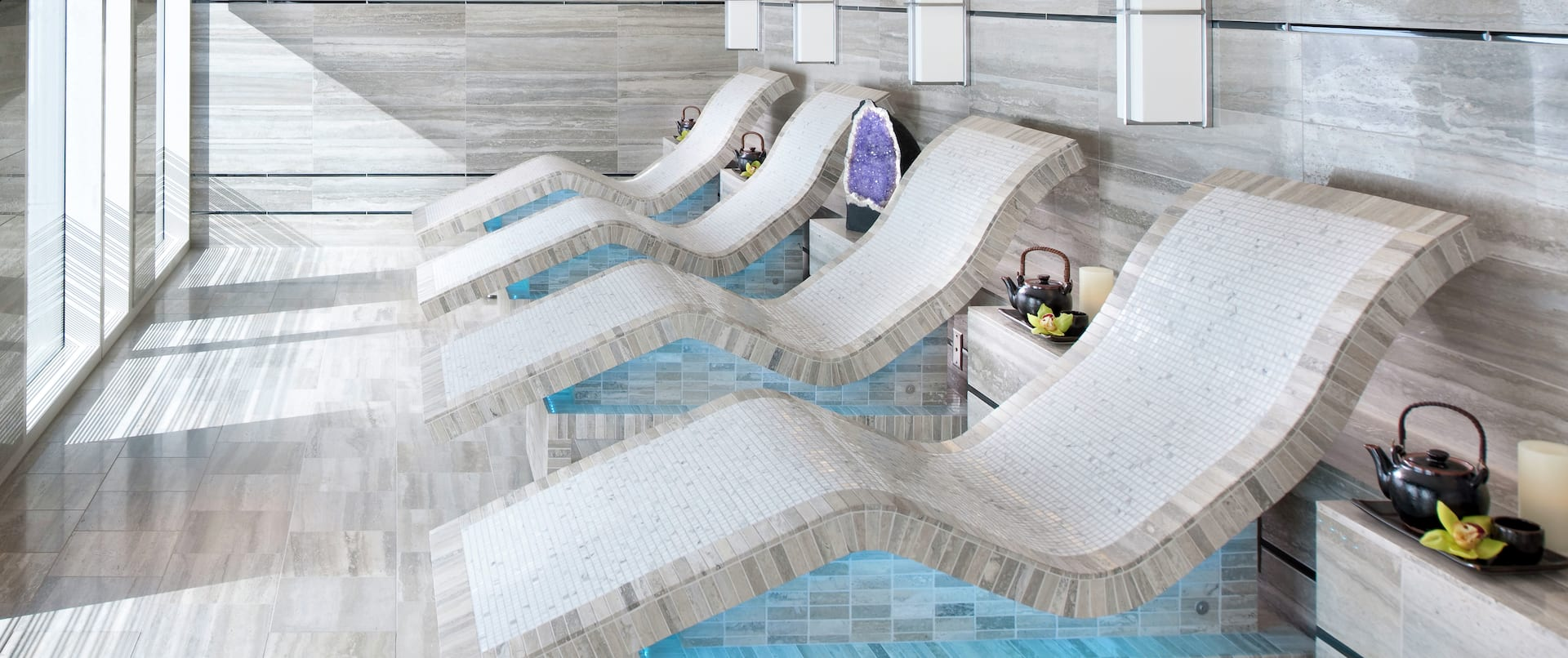Four Heated Lounger in Spa