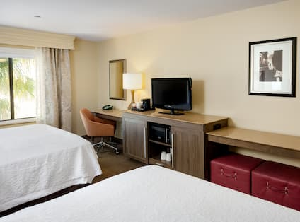 Two Queen Beds Room TV and Desk
