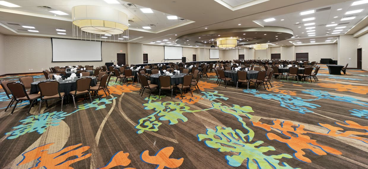 Ballroom With Banquet Tables