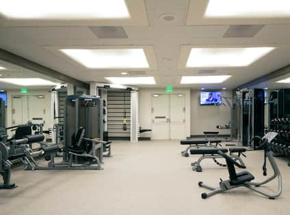 Fitness Center with Weights and Strength Equipment
