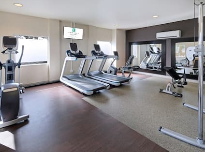 Fitness Center with Treadmills, Cycle Machine, Cross-Trainer and Weight Bench