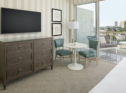 Television, dresser, nook and terrace