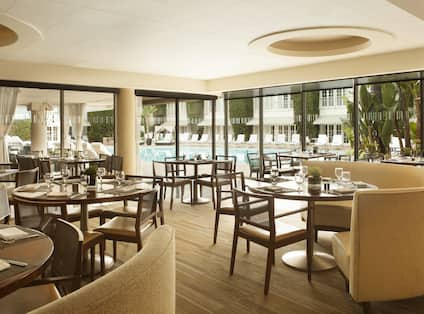 Circa 55 Restaurant with tables and chairs