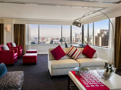 Presidential Suite Living Room/ Dining Area