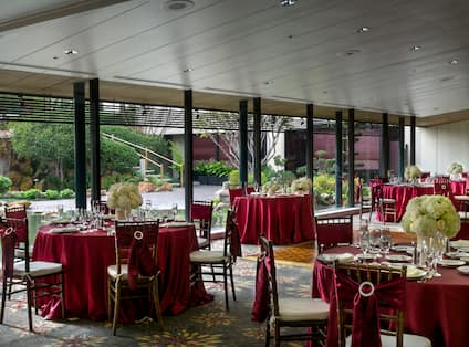 Tables Set Up for a Wedding