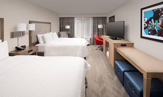 Hampton Inn & Suites Los Angeles/Anaheim-Garden Grove Hotel, CA - Two Queen Guest Room