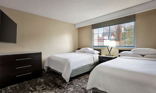 Accessible Guestroom with Two Queen Beds, Outside View, and Room Technology