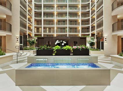 Embassy Suites Atrium with Indoor Fountain