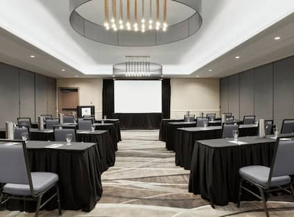 Ballroom with Tables, Chairs, and Room Technology