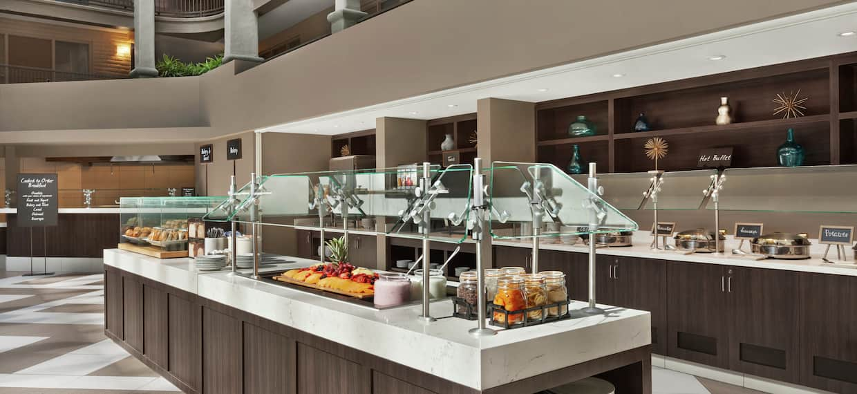 Complimentary Cooked-to-Order Breakfast Buffet Area