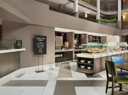 Embassy Suites Breakfast Buffet Area