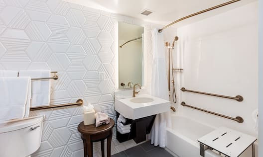 Accessible Bathroom with Seat in Bathtub