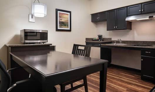 Modern, spacious guest room
