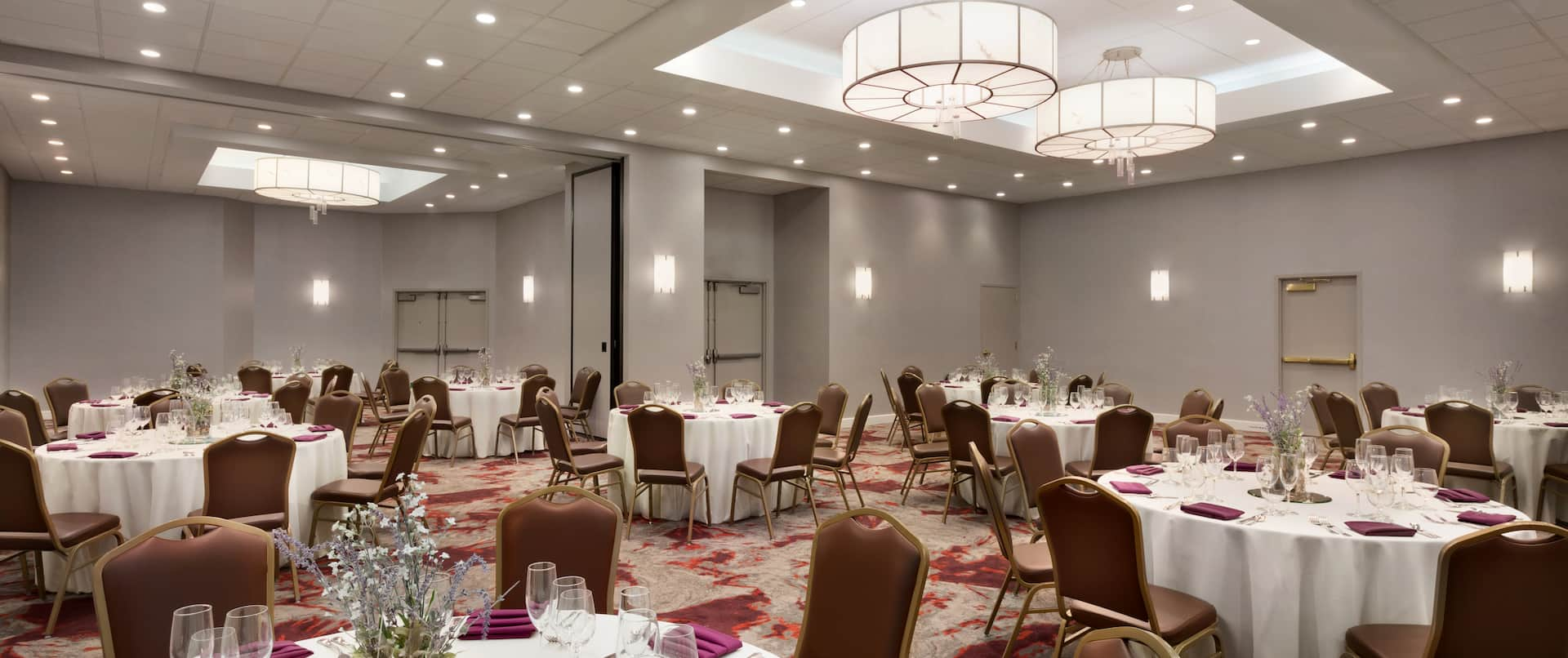 Ballroom with Round Banquet Tables