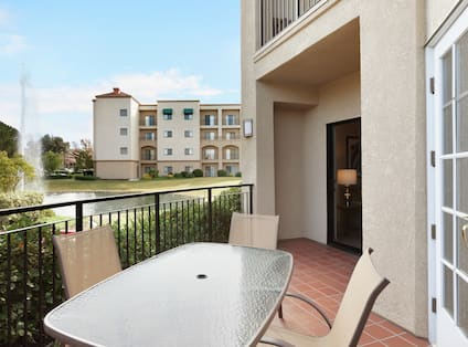 Suite Patio with Tables and Chairs
