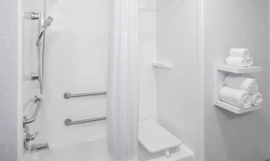 Accessible Guest Bathroom with Tub