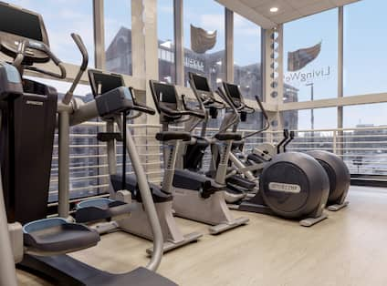 Fitness Center with Outside View