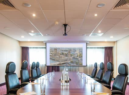 Boardroom with Projection Screen
