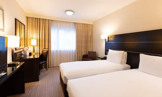 Standard Room with Two Beds Desk and HDTV