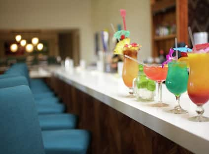 Hotel Bar with Cocktails