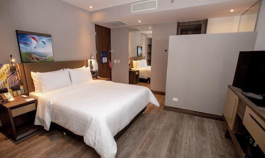 One Queen Bed Guest Bedroom with TV