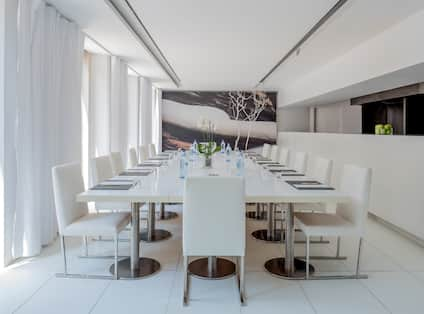Restaurant Seating with Long Dining Table