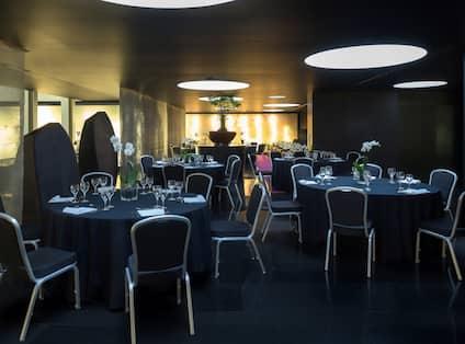 Meeting Area at Bonsai Restaurant Setup Cabaret Style