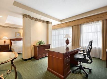 Suite Separate Work Desk Area