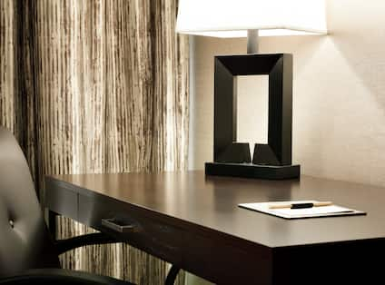 Guest Room Desk with Lamp