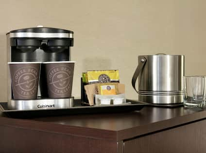 Coffee and Tea Supplies in Guest Room