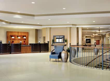 View of Reception Desk in Lobby