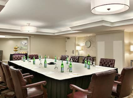 Boardroom Setup for a Meeting