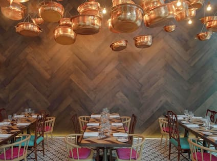 Tables and Chairs in Mr. Todiwala's Kitchen