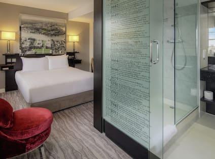 Queen Bedroom with View of Bathroom