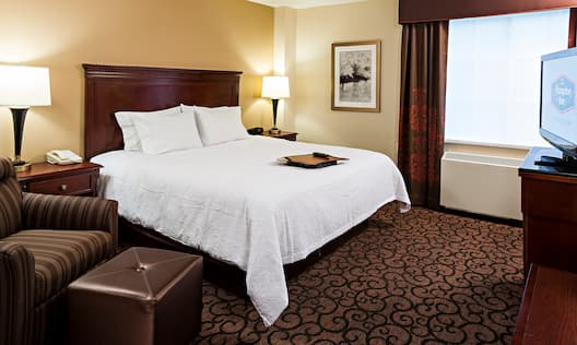 Accessible King Bed Hotel Guestroom