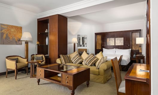 Large Bed in Suite with Sofa