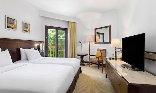 Twin Guest Room with HDTV and Balcony