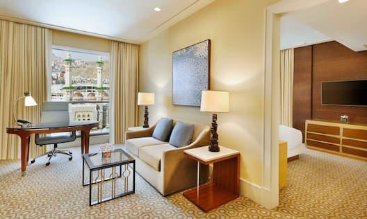 Deluxe Suite Conrad Makkah Living Area