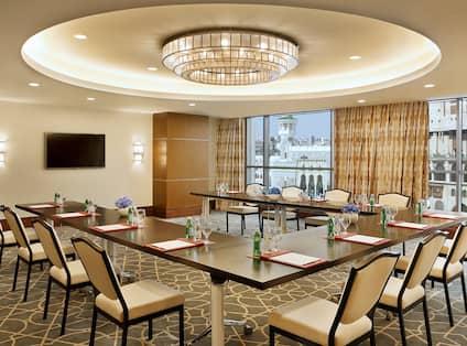 U Shaped Table Meeting Room