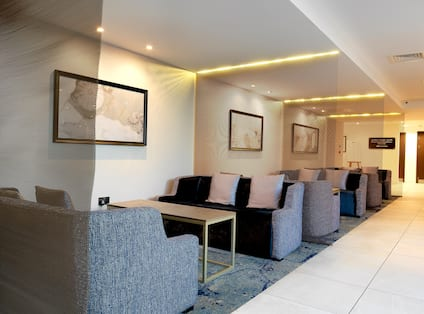 Lobby Seating Area with Sofas and Coffee Tables