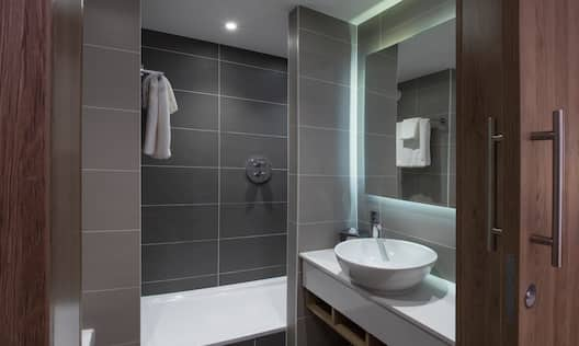 Guest Bathroom Vanity and Shower