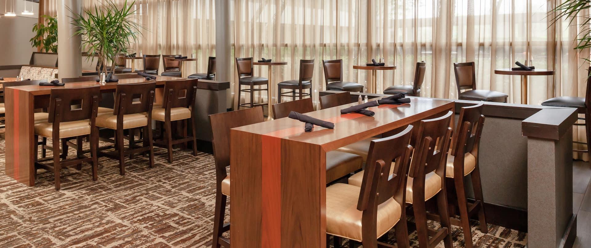 a lobby dining area