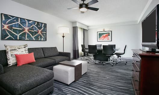 Suite Living Area with Sofa and Conference Table