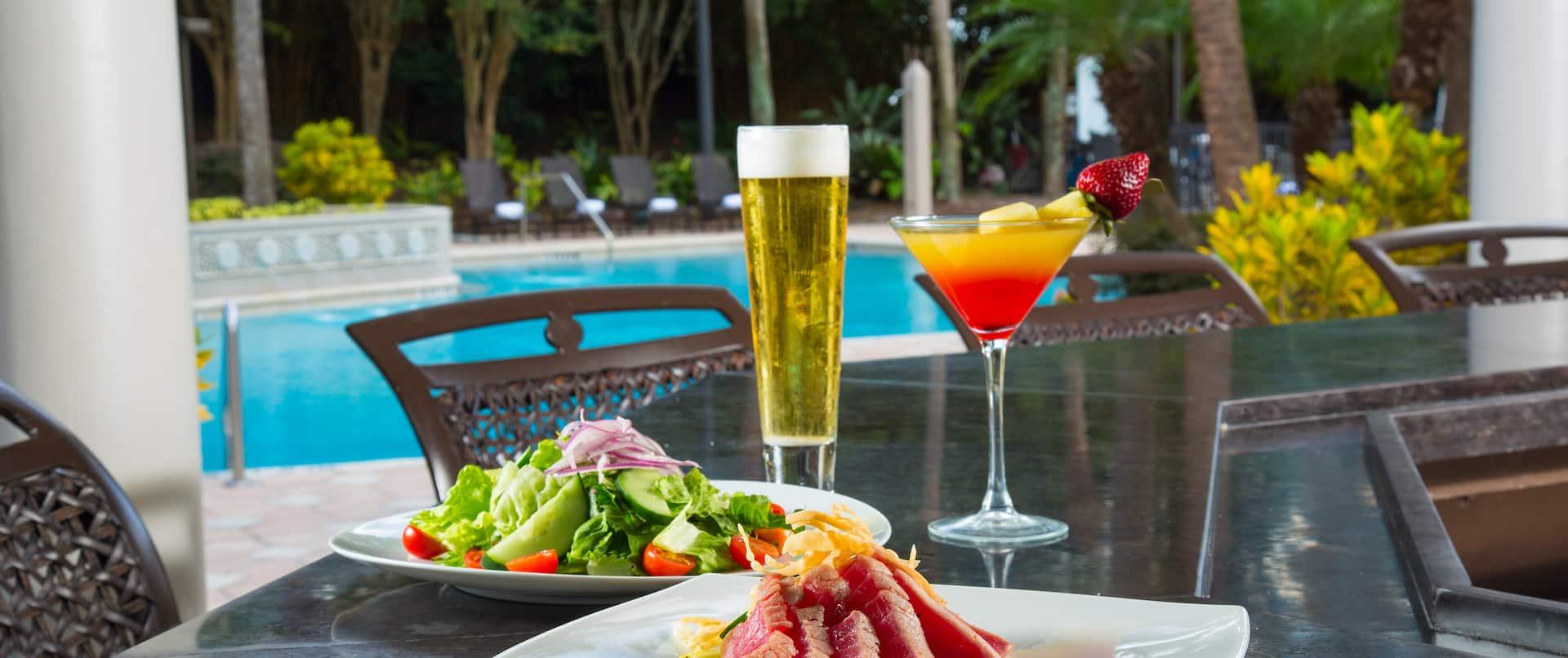 Pool Bar Food and Drinks